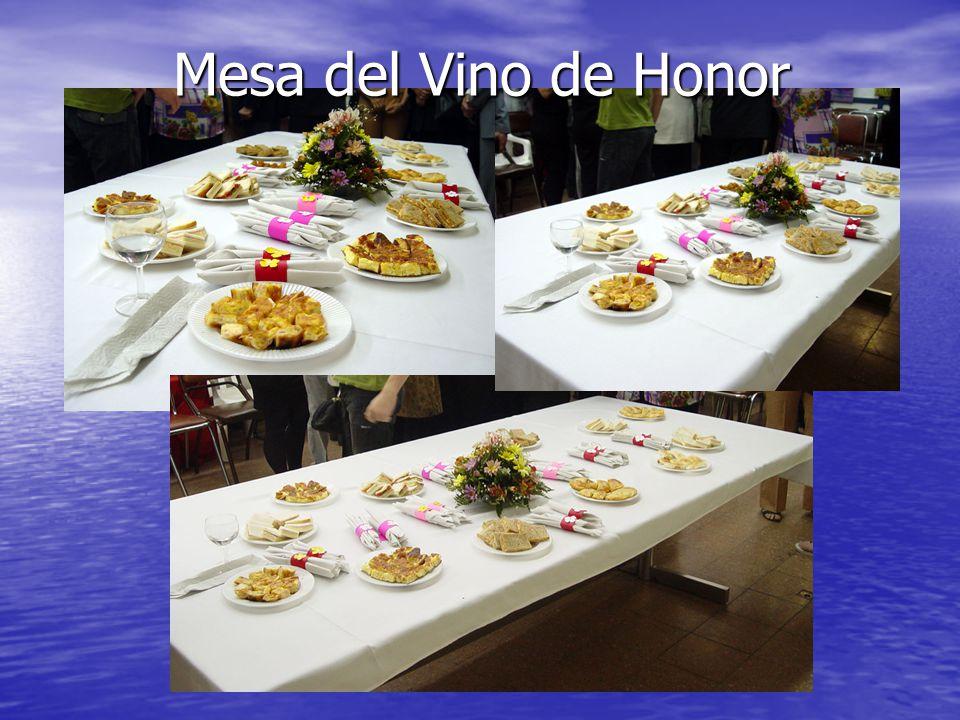 Mesa del Vino de Honor