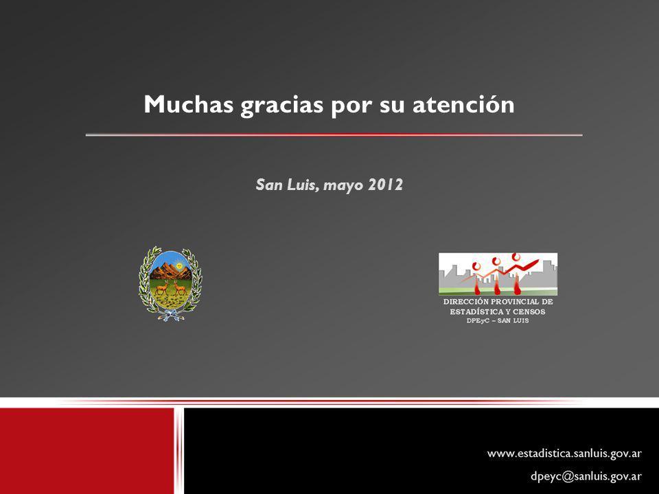 Muchas gracias por su atención San Luis, mayo 2012