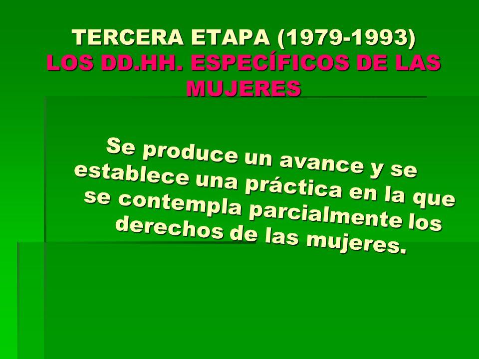 TERCERA ETAPA (1979-1993) LOS DD.HH.