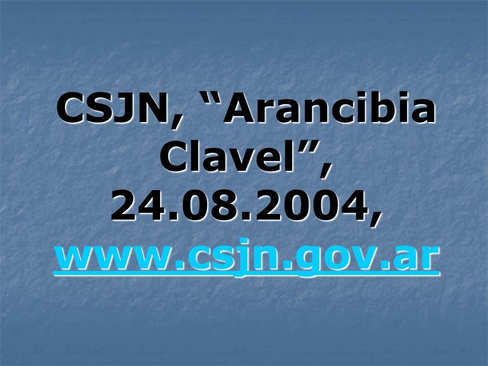 CSJN, Arancibia Clavel, 24.08.2004, www.csjn.gov.ar www.csjn.gov.ar