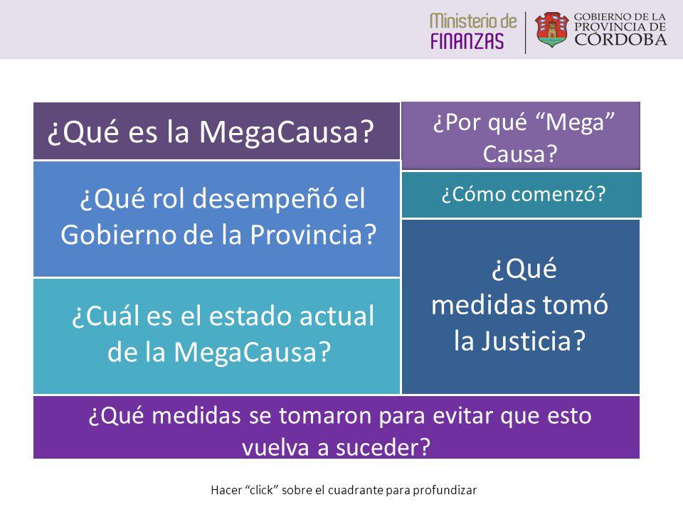 ¿Por qué Mega Causa.¿Qué rol desempeñó el Gobierno de la Provincia.