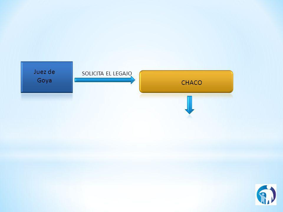 CHACO Juez de Goya SOLICITA EL LEGAJO