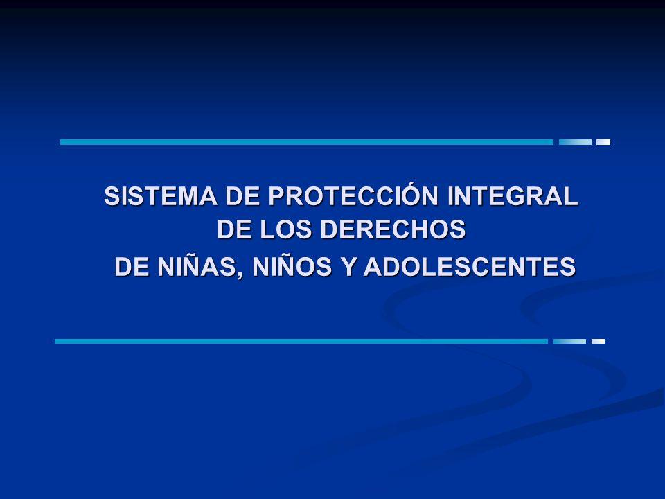 SISTEMA DE PROTECCIÓN INTEGRAL DE LOS DERECHOS DE NIÑAS, NIÑOS Y ADOLESCENTES
