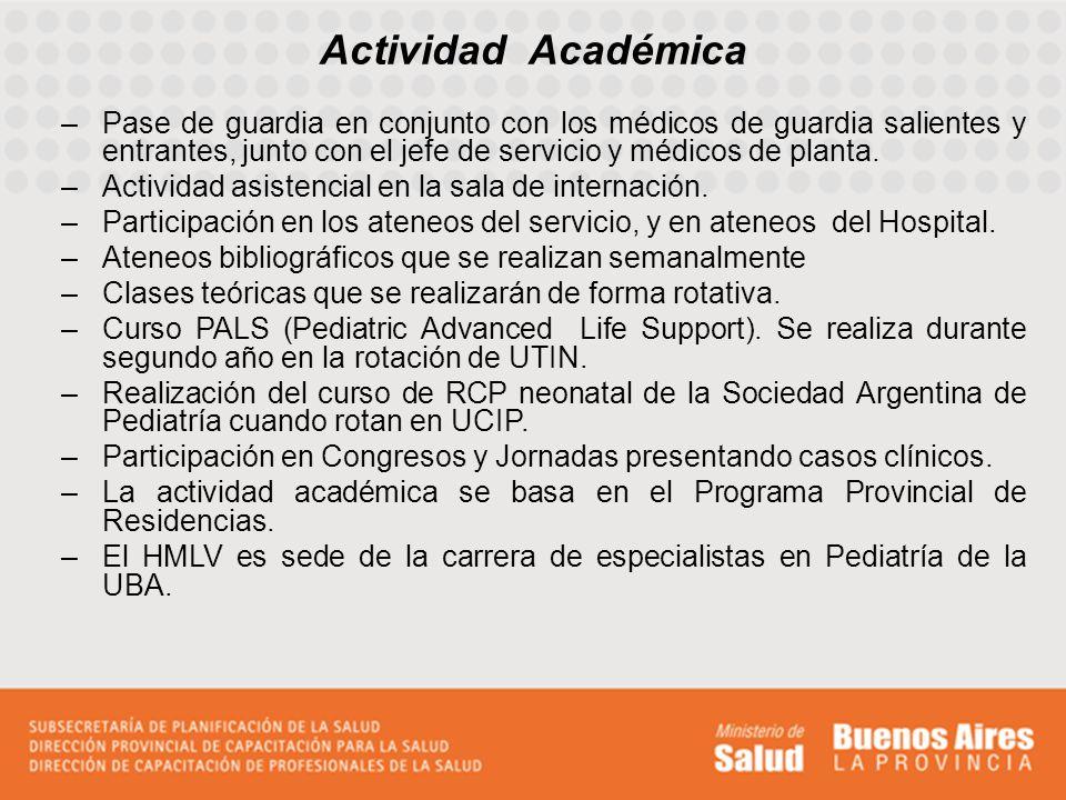 Actividades de Investigación Publicación de trabajos realizados en el Servicio referente a casos clínicos, en la página del Ministerio de Salud de la Provincia de Buenos Aires.