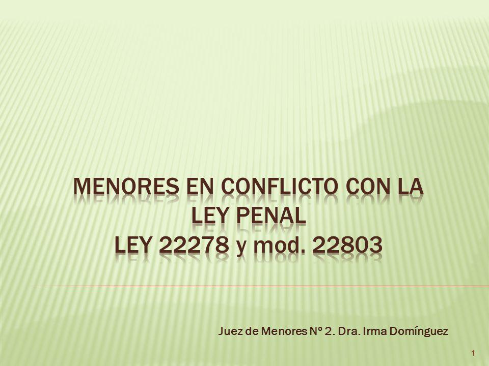 Juez de Menores Nº 2. Dra. Irma Domínguez 1