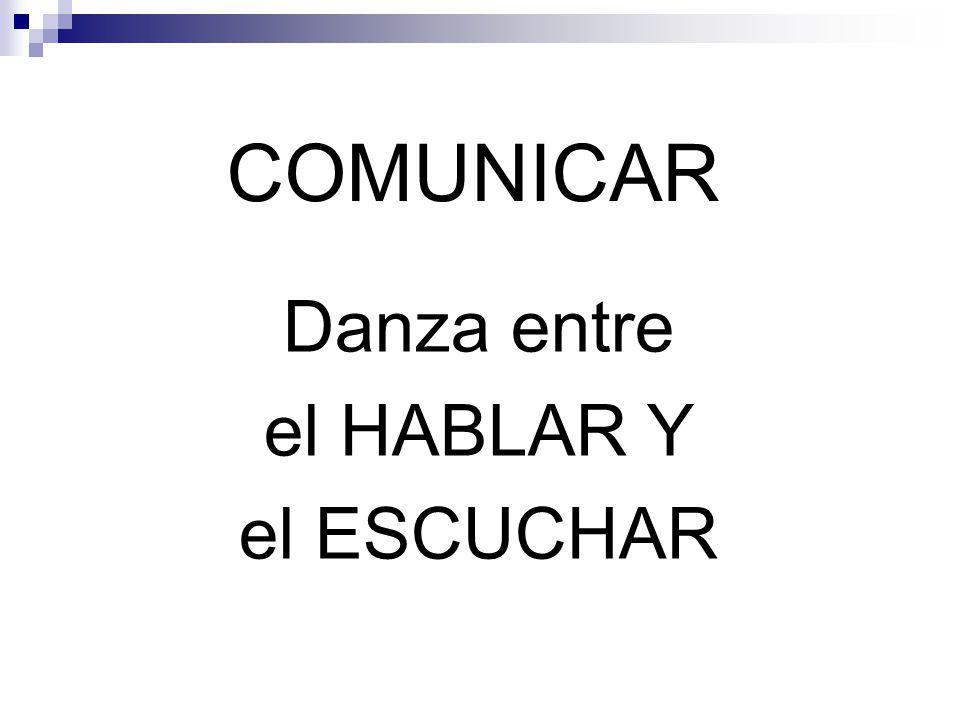 COMUNICAR Danza entre el HABLAR Y el ESCUCHAR
