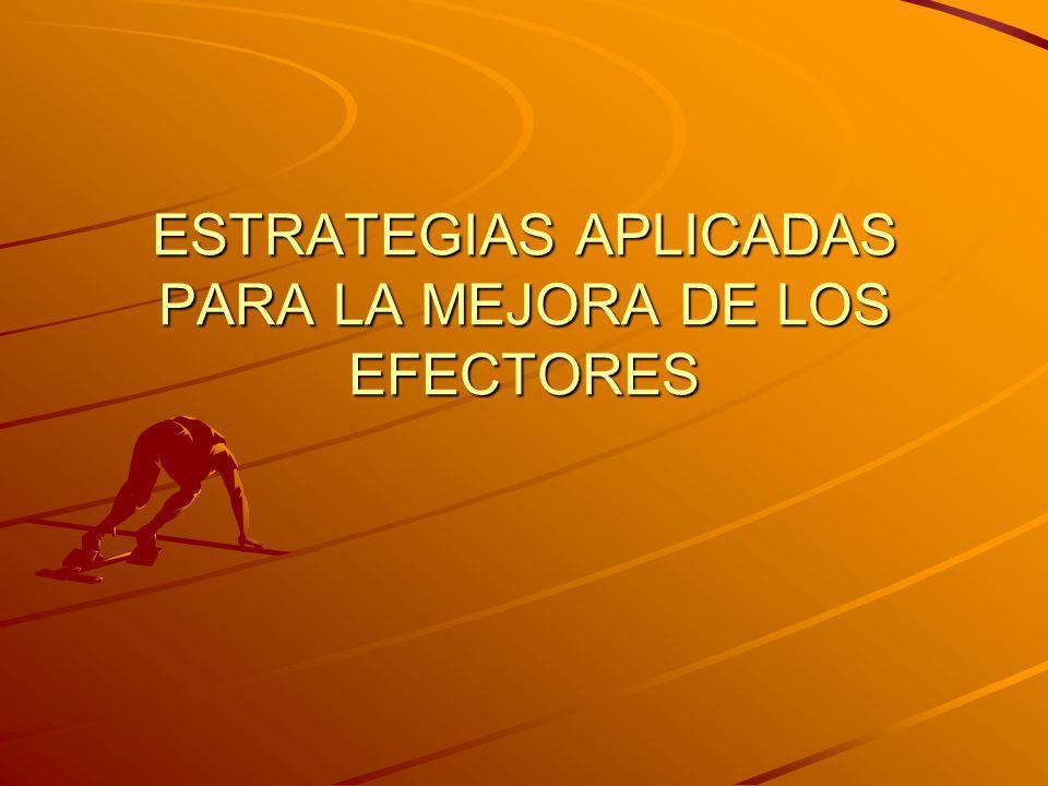 ESTRATEGIAS APLICADAS PARA LA MEJORA DE LOS EFECTORES Comienzo de las actividades