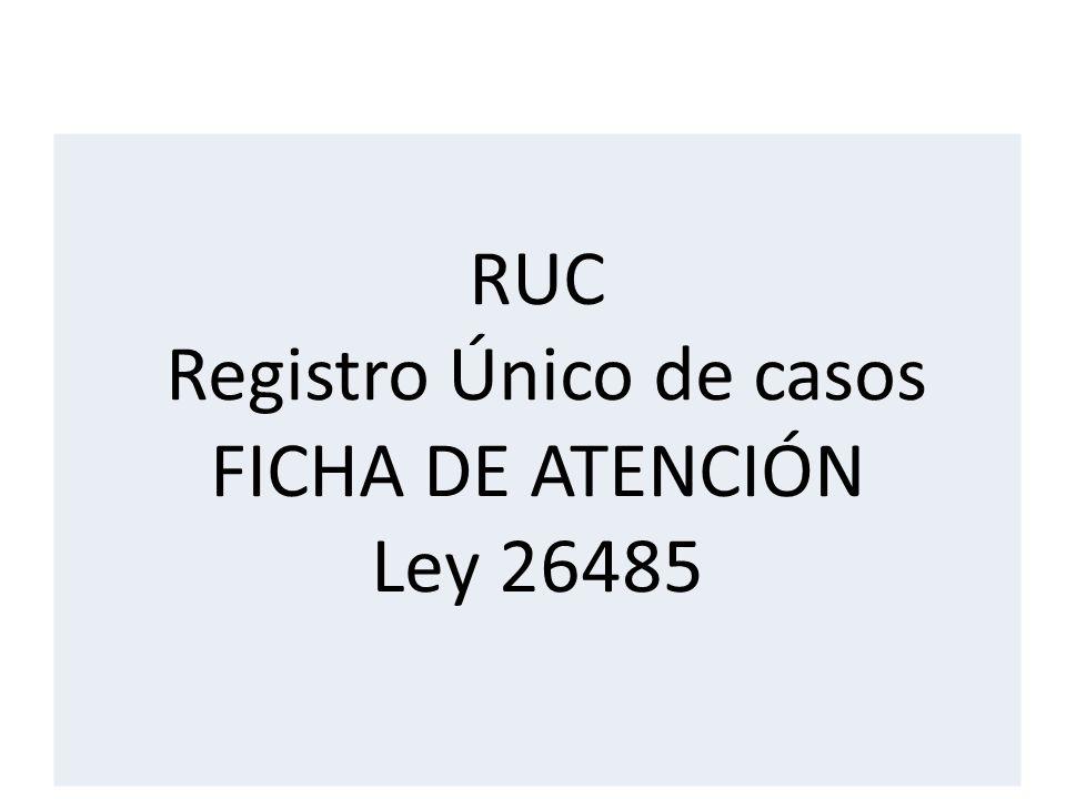 RUC Registro Único de casos FICHA DE ATENCIÓN Ley 26485