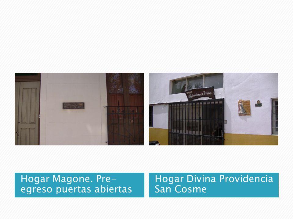 Hogar Magone. Pre- egreso puertas abiertas Hogar Divina Providencia San Cosme