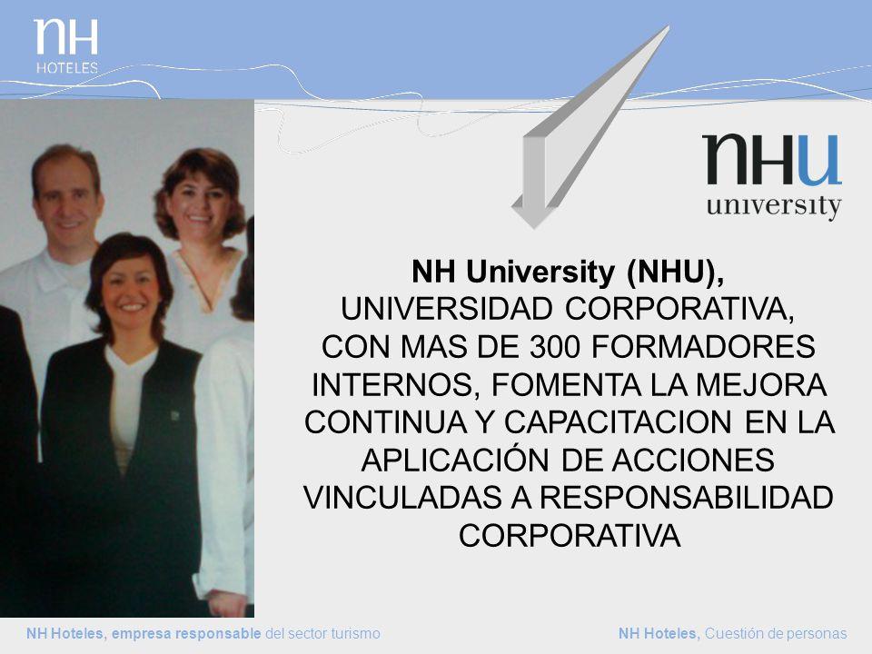 NH Hoteles, empresa responsable del sector turismo NH Hoteles, Cuestión de personas Bono NH Amigo Solidario