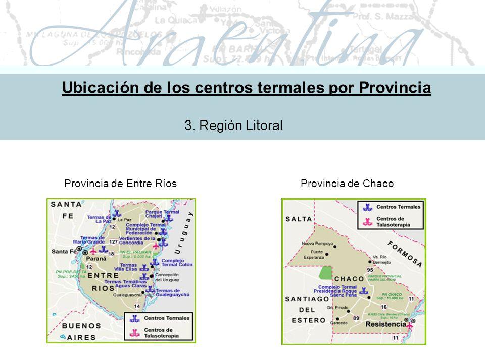 Metodología de Implementación Ubicación de los centros termales por Provincia 3.