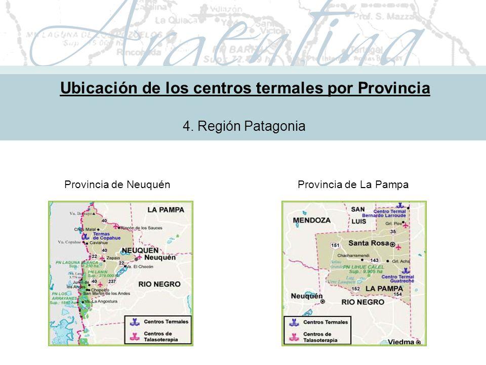 Metodología de Implementación Ubicación de los centros termales por Provincia 4.
