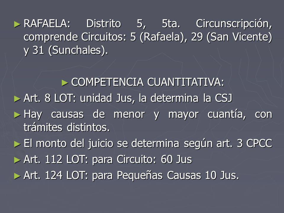 RAFAELA: Distrito 5, 5ta. Circunscripción, comprende Circuitos: 5 (Rafaela), 29 (San Vicente) y 31 (Sunchales). RAFAELA: Distrito 5, 5ta. Circunscripc