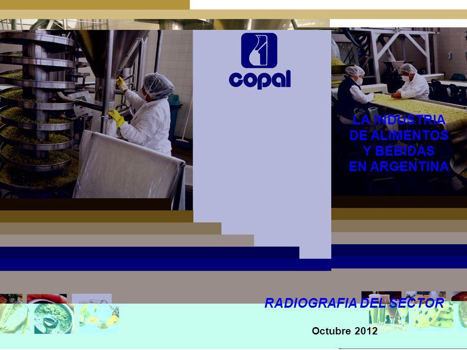 LA INDUSTRIA DE ALIMENTOS Y BEBIDAS EN ARGENTINA RADIOGRAFIA DEL SECTOR Octubre 2012