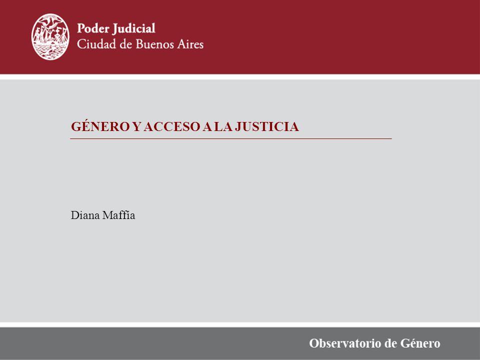 GÉNERO Y ACCESO A LA JUSTICIA Diana Maffía