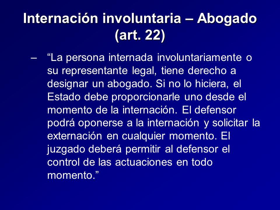 Internación involuntaria – Abogado (art.