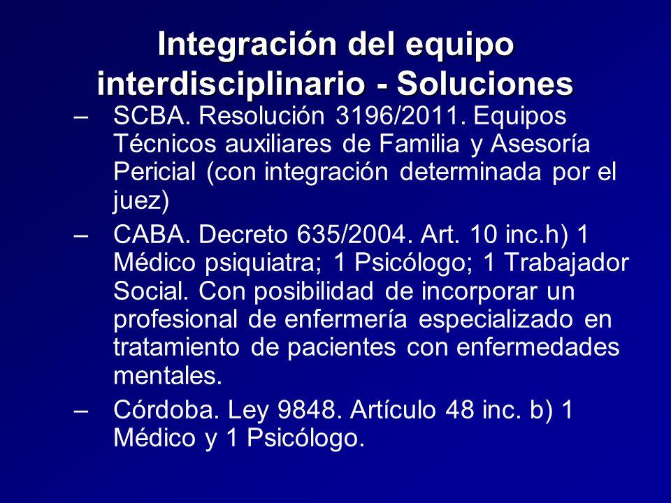 Integración del equipo interdisciplinario - Soluciones – –SCBA.
