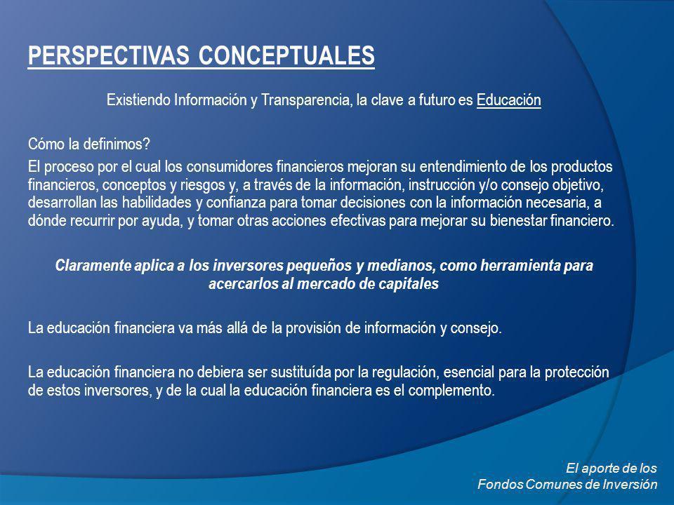 PERSPECTIVAS CONCEPTUALES Existiendo Información y Transparencia, la clave a futuro es Educación Cómo la definimos.