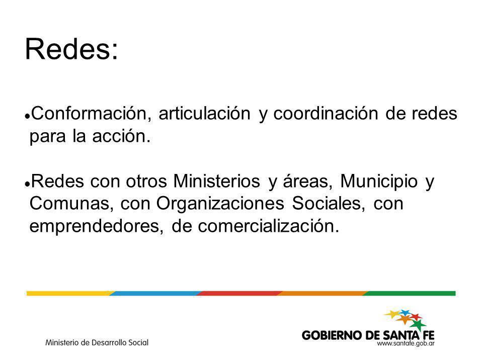 Redes: Conformación, articulación y coordinación de redes para la acción.