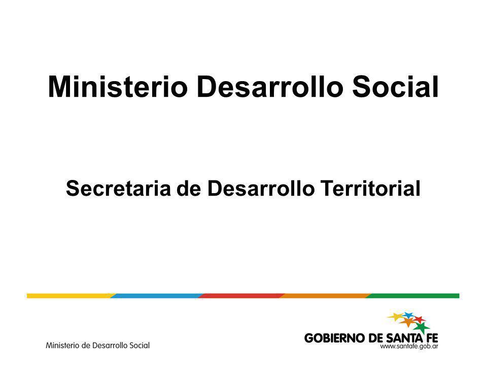 Ministerio Desarrollo Social Secretaria de Desarrollo Territorial