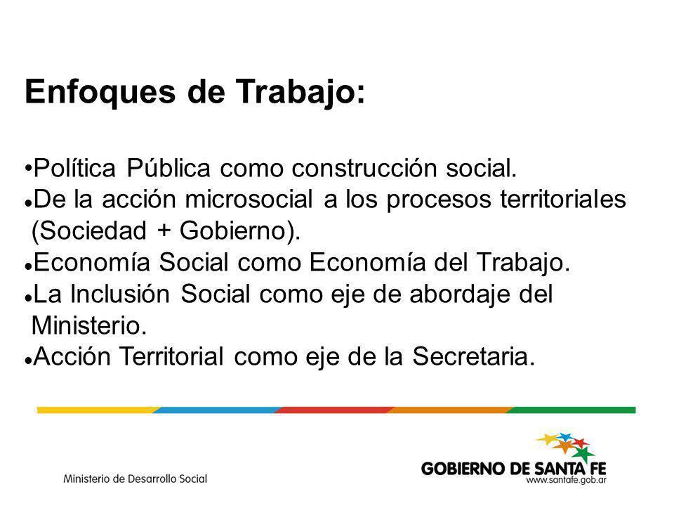 Enfoques de Trabajo: Política Pública como construcción social.