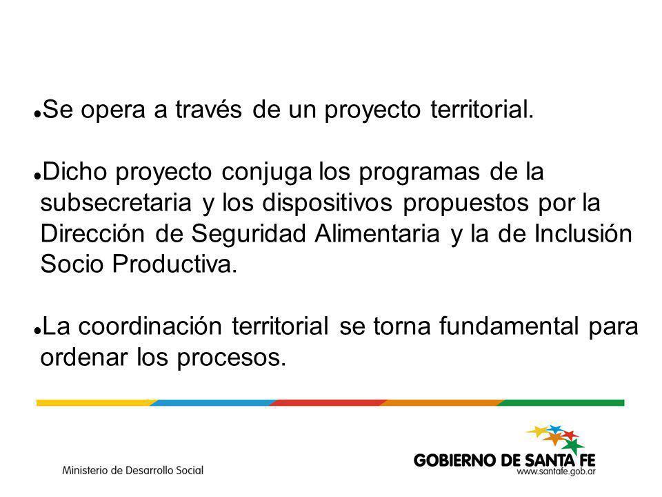 Se opera a través de un proyecto territorial.