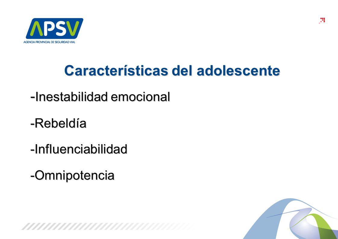 3 Características del adolescente - Inestabilidad emocional -Rebeldía-Influenciabilidad-Omnipotencia