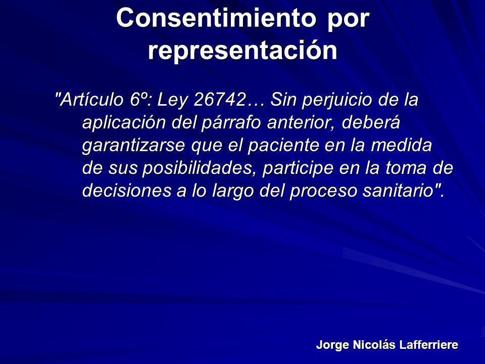 Jorge Nicolás Lafferriere Consentimiento por representación