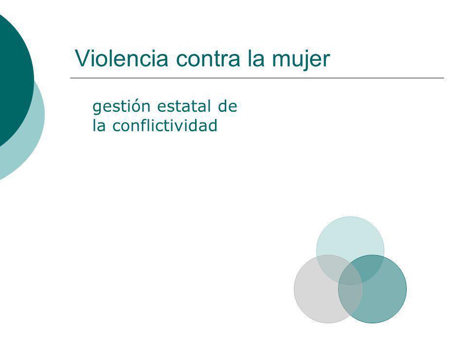 Violencia contra la mujer gestión estatal de la conflictividad