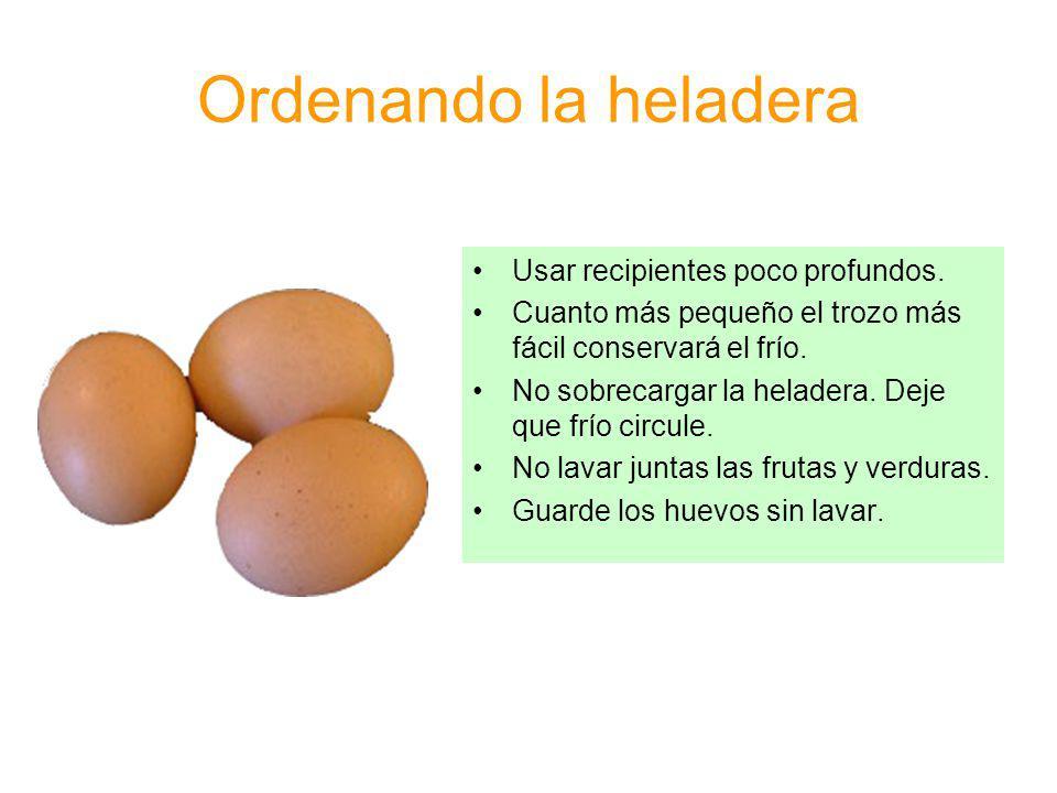 Manipulación y consumo de alimentos Lavar con agua las frutas y verduras antes de consumir.