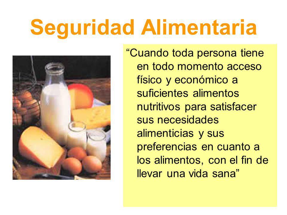 Alimento Sustancia o mezcla de sustancias naturales o elaboradas que, al ser ingeridas por la persona, le aportan a su cuerpo todos los nutrientes necesarios para el desarrollo de su vida.