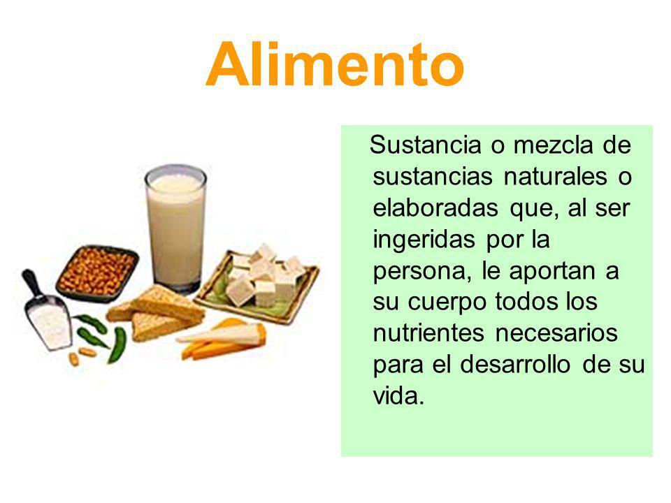 Calidad del alimento Valor nutritivo: dado por las características nutricionales propias que deben conservarse durante cada una de las etapas de elaboración.