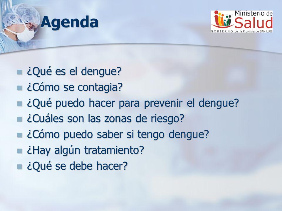 Agenda ¿Qué es el dengue.¿Qué es el dengue. ¿Cómo se contagia.