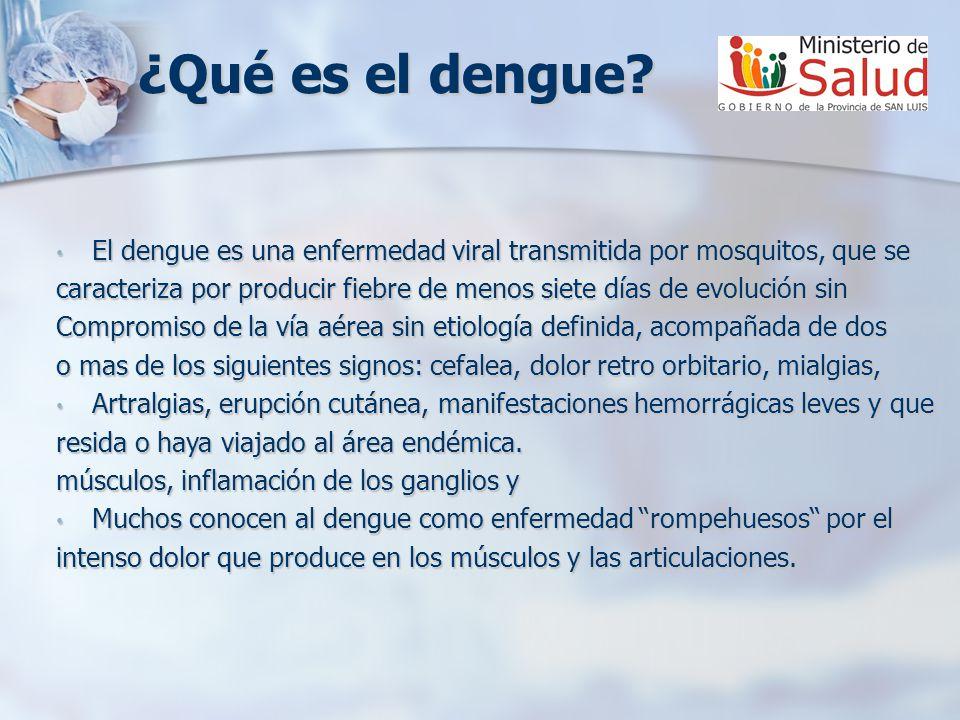¿Qué es el dengue.