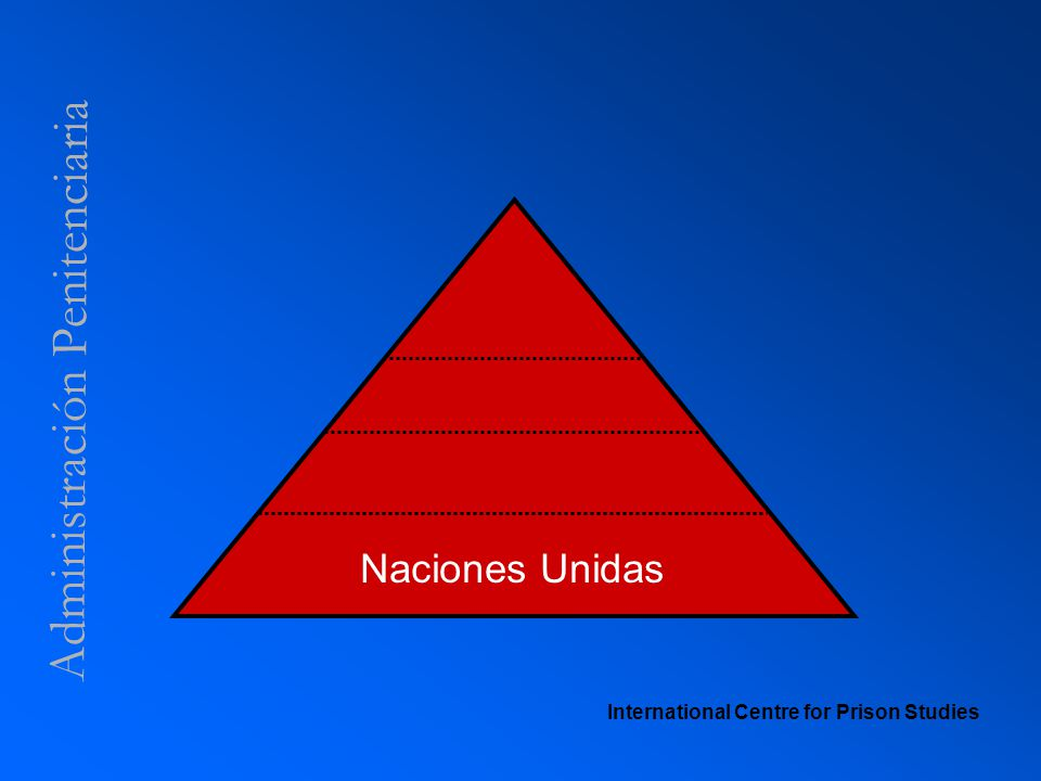 Administración Penitenciaria International Centre for Prison Studies Naciones Unidas