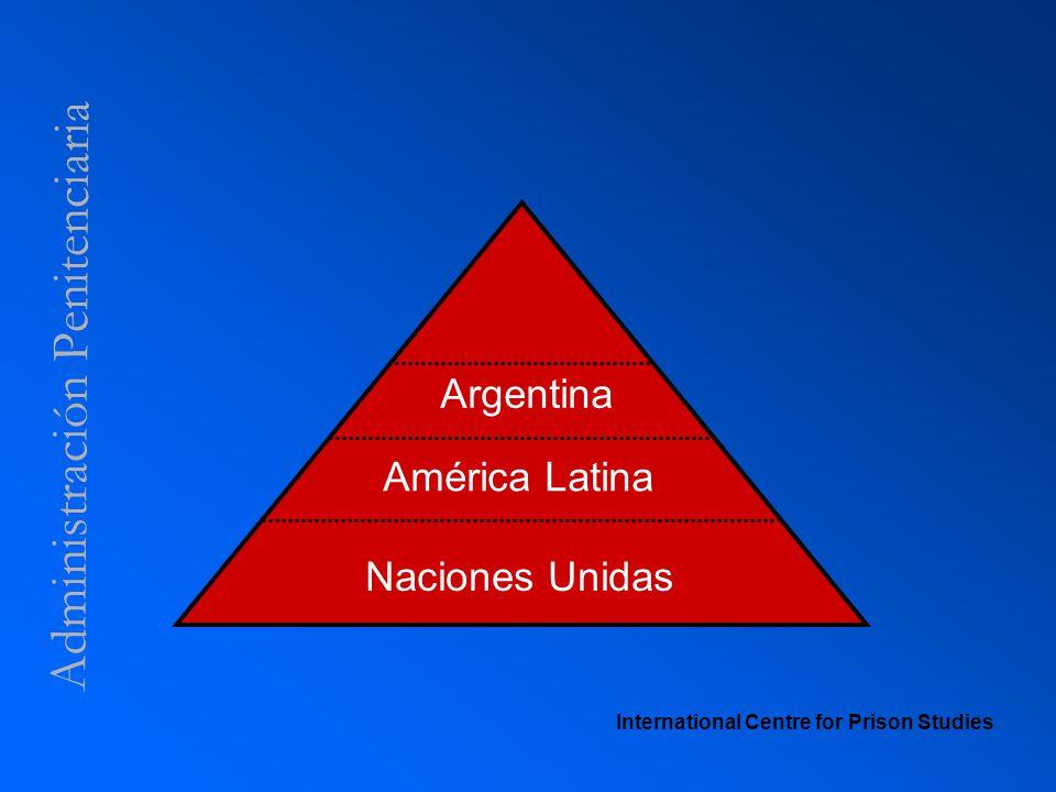 Administración Penitenciaria International Centre for Prison Studies Naciones Unidas América Latina Argentina