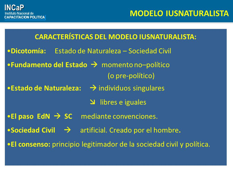INCaP Instituto Nacional de CAPACITACION POLITICA Derecho de Propiedad.