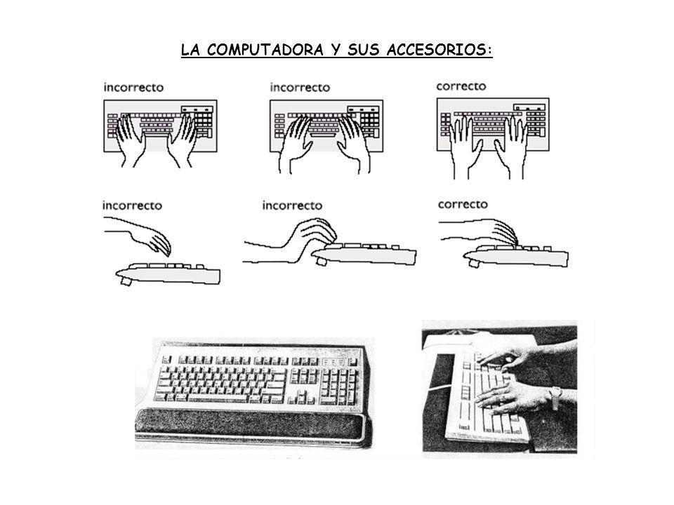 LA COMPUTADORA Y SUS ACCESORIOS:
