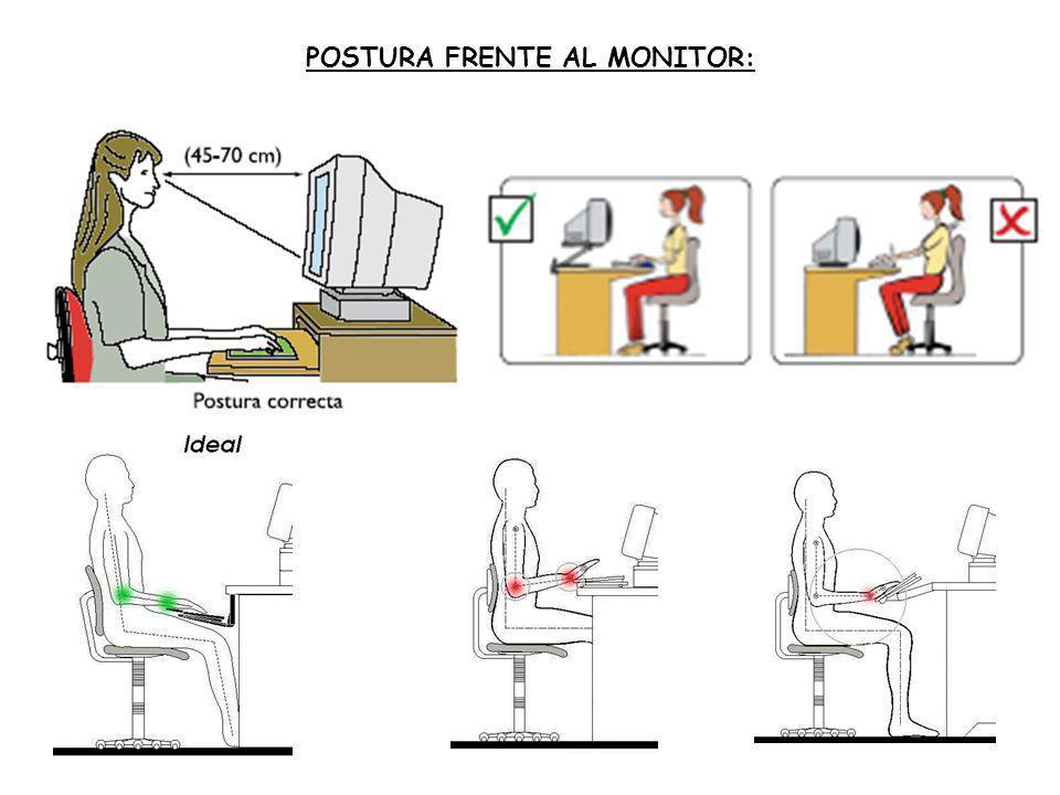 POSTURA FRENTE AL MONITOR:
