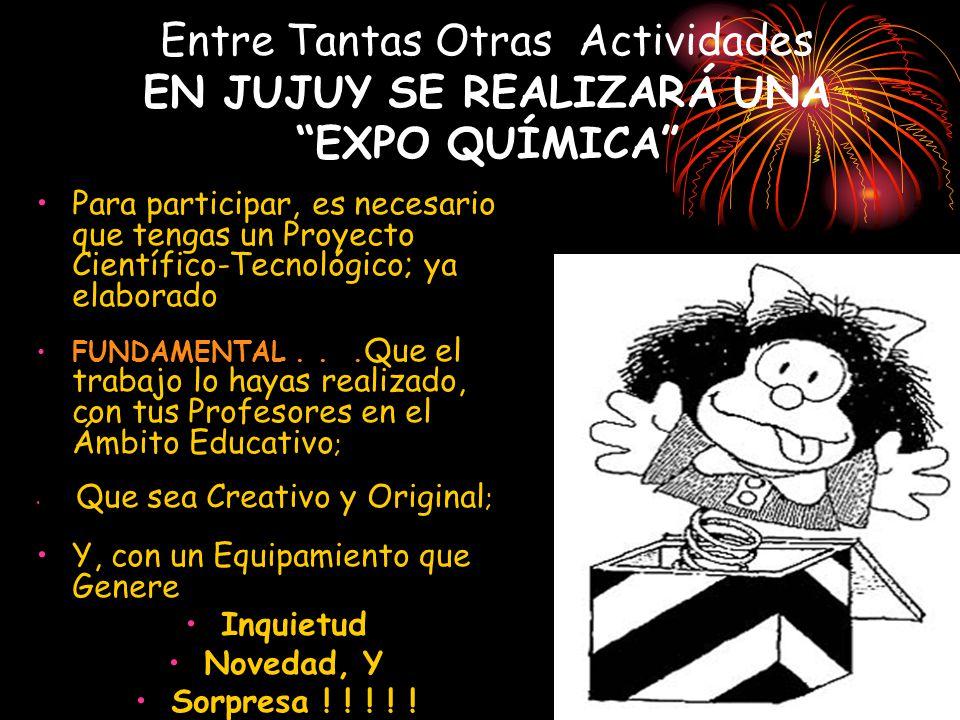Además...el 2011 es EL AÑO INTERNACIONAL DE LA QUÍMICA?.