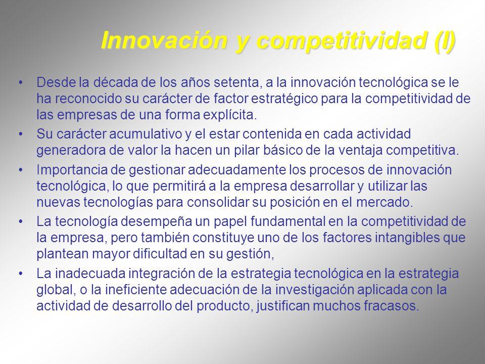 Innovación y competitividad (I) La imposibilidad de ser tecnológicamente autosuficiente obliga a conocer los procesos y modalidades de transferencia y protección.
