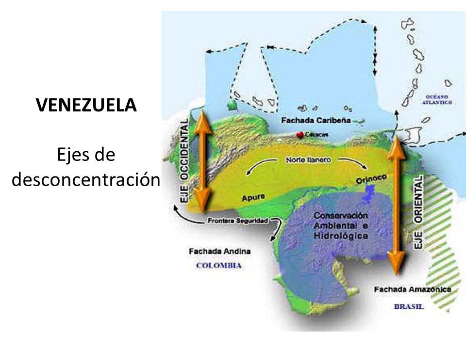 VENEZUELA Ejes de desconcentración