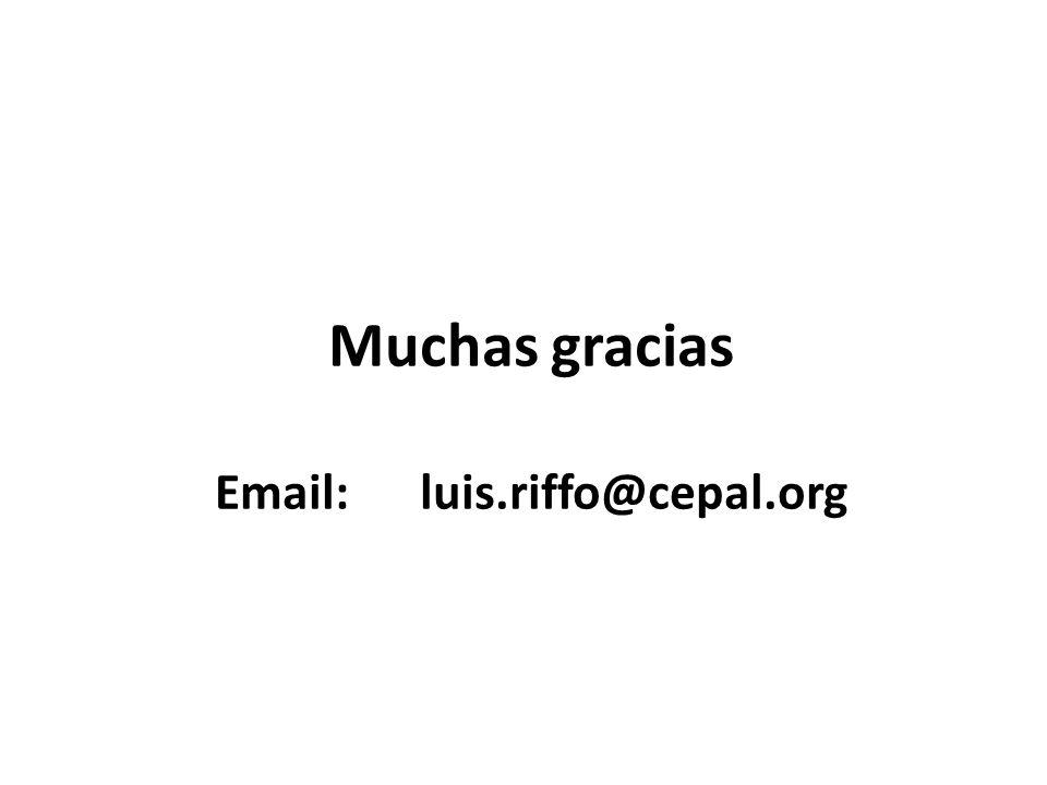 Muchas gracias Email: luis.riffo@cepal.org