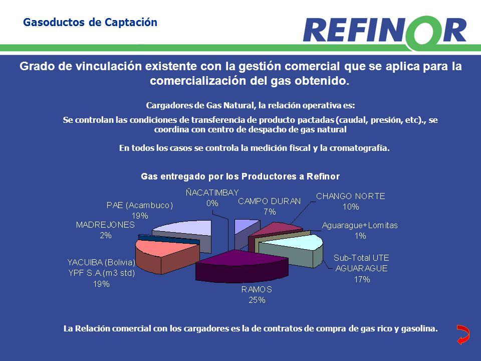 Grado de vinculación existente con la gestión comercial que se aplica para la comercialización del gas obtenido.