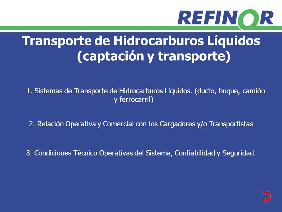 Transporte de Hidrocarburos Líquidos (captación y transporte) 2.
