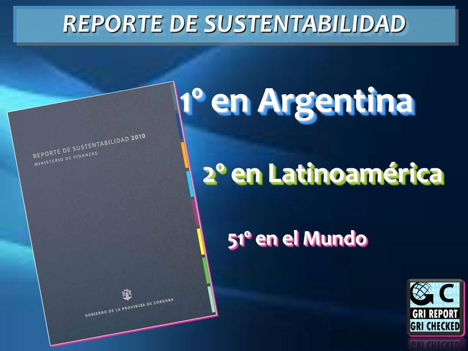 1º en Argentina 2º en Latinoamérica 51º en el Mundo REPORTE DE SUSTENTABILIDAD