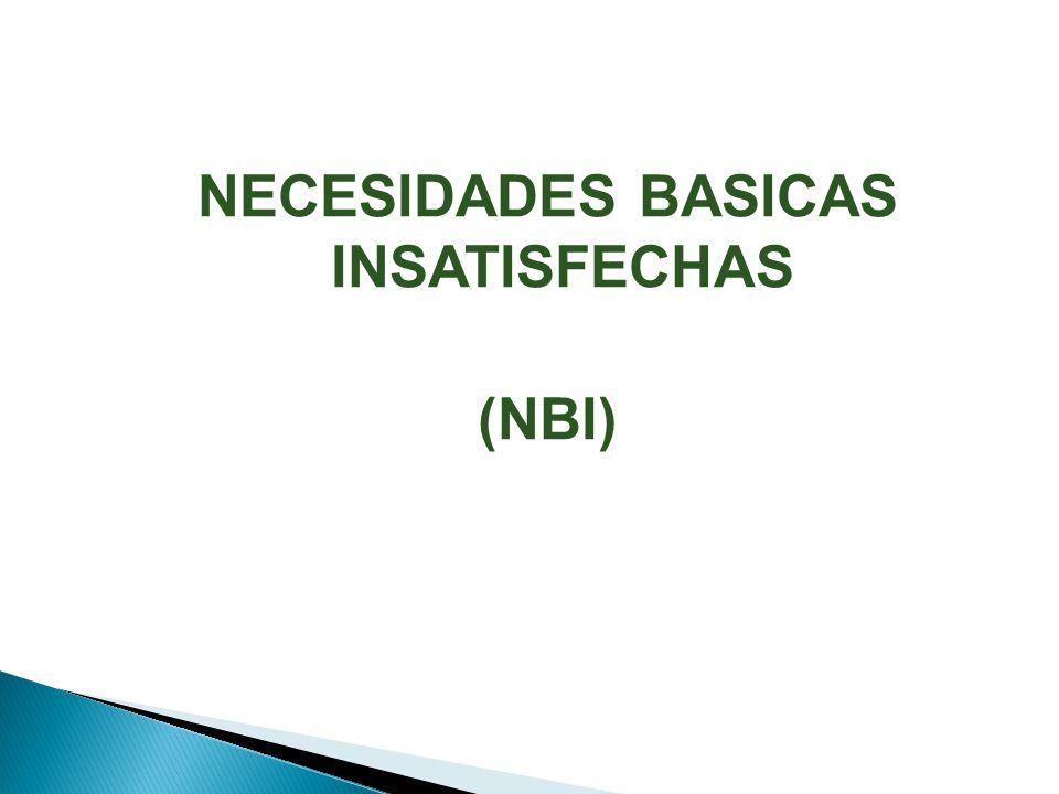 NECESIDADES BASICAS INSATISFECHAS (NBI)