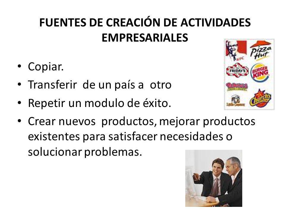 I DENTIFICAR B UENAS O PORTUNIDADES CAMBIOS POLÍTICOS Y REGULATORIOS - Ofrecimiento de subsidios favorecen el surgimiento de nuevas empresas.
