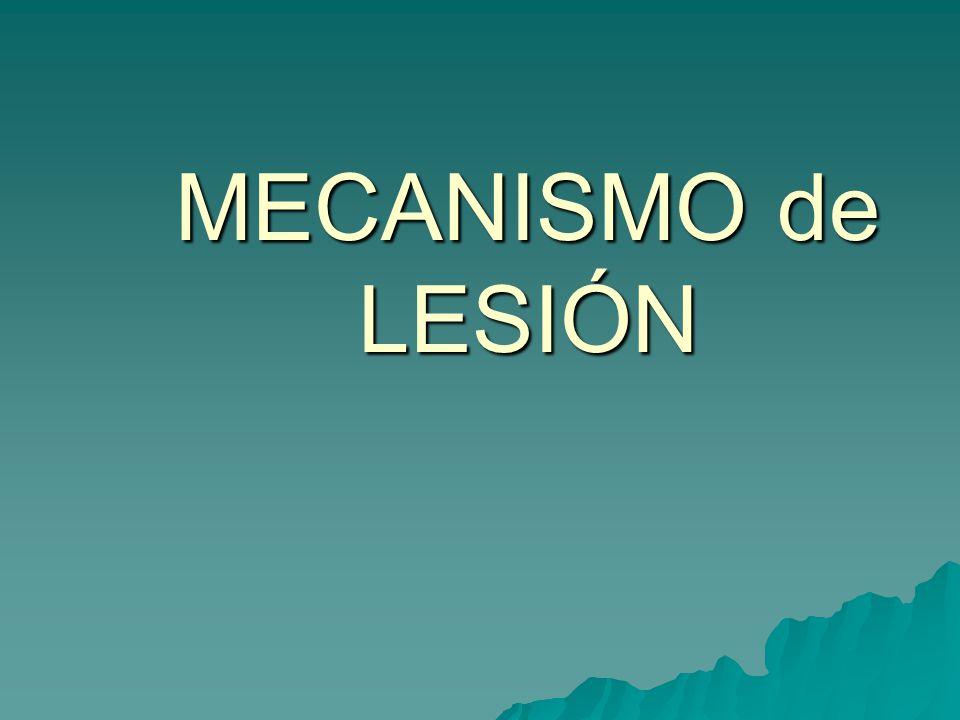 MECANISMO de LESIÓN