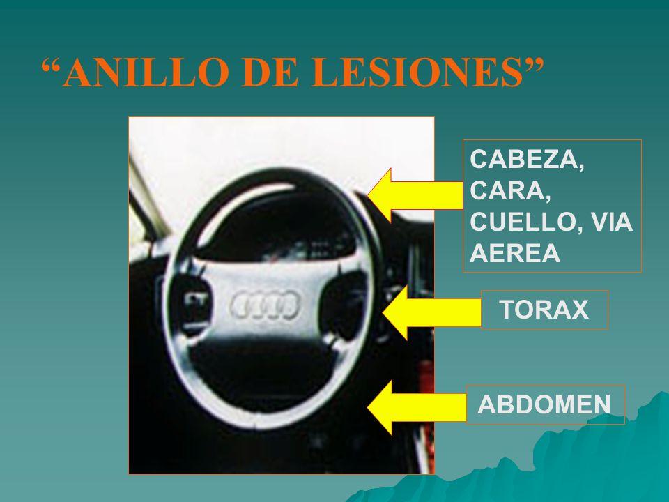 ANILLO DE LESIONES CABEZA, CARA, CUELLO, VIA AEREA TORAX ABDOMEN